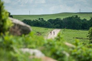 The Flint Hills of Kansas are a spectacular field of green during the race!