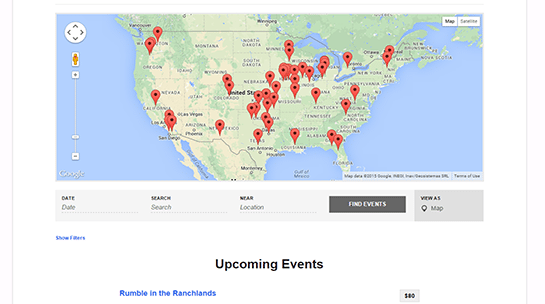 It's up to over 200 events and counting. Find one near you!