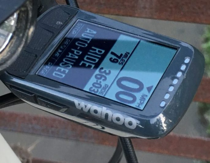 Wahoo Elemnt Bolt GPS Cycling Computer: At The Finish