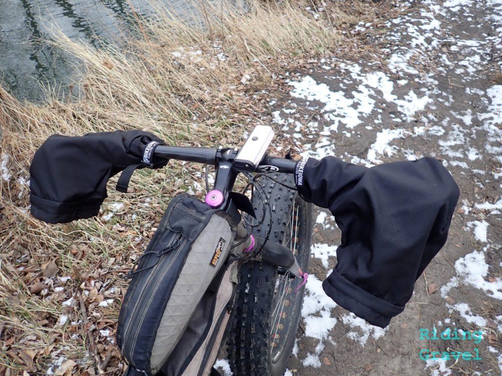 Pogie Lites on a fat bike/flat bar set up.