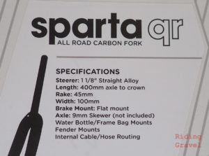 Specs for the Sparta QR