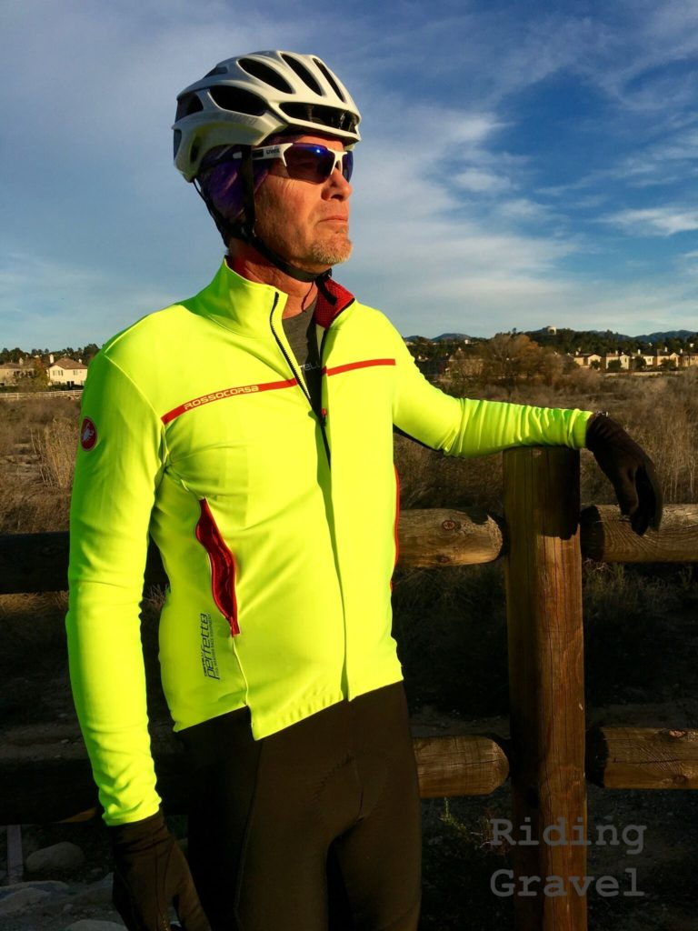 Grannygear sporting the Castelli Perfetto top and Sospresso bibs on review here.