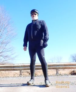 Guitar Ted in the GORE C7 Windstopper Pro bib tights