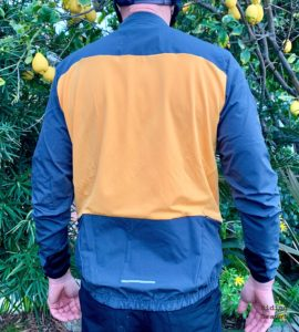 A backside view of the jersey