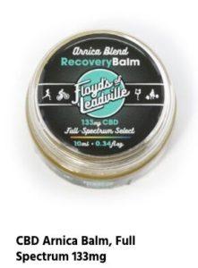 A tin of the Floyd's of Leadville CBD Arnica Balm