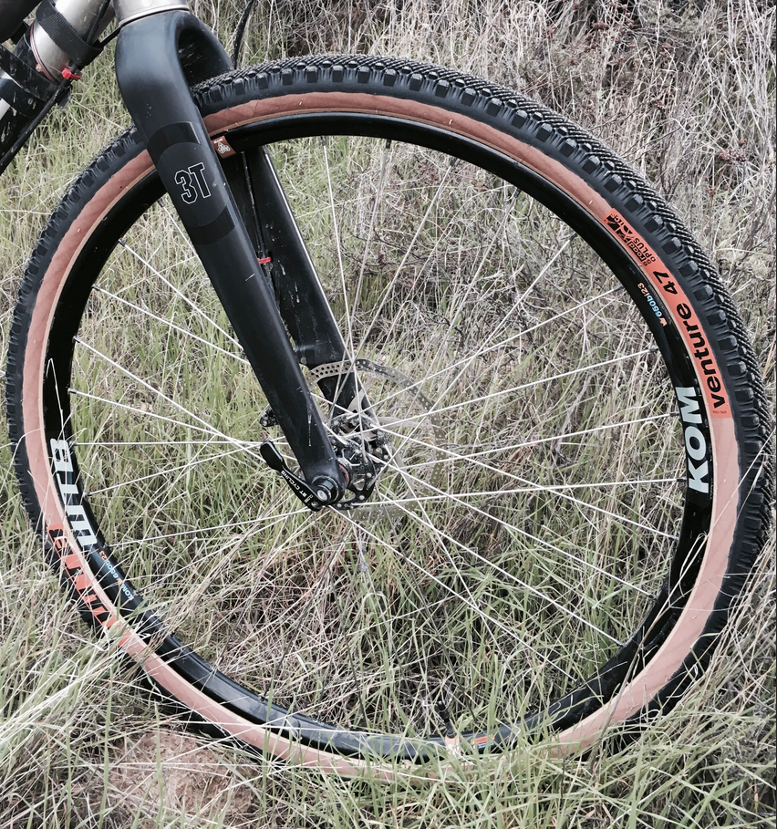 Picture of a WTB Venture 650B X 47 tire on Grannygear's bike
