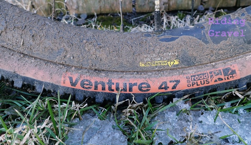 WTB Venture 650B X 47 tire label dirty