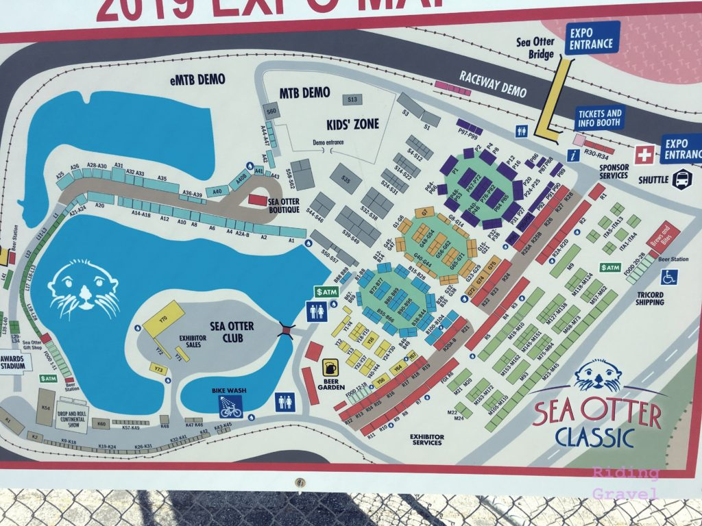 Exhibitor map from Sea Otter