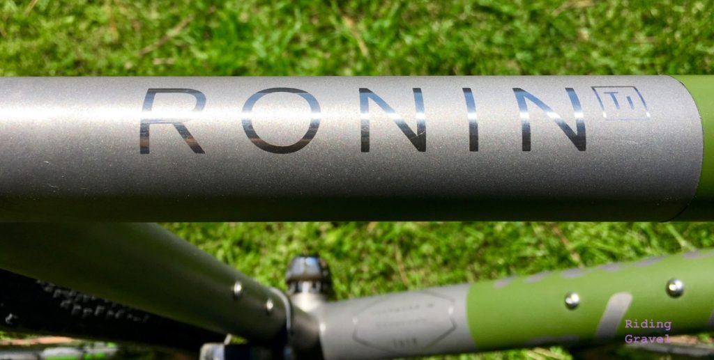 The Ronin Ti's toptube