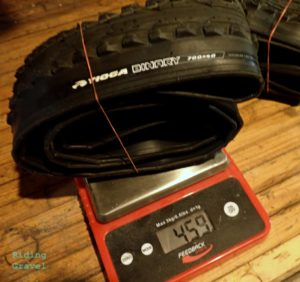 Binary tire on the scale.
