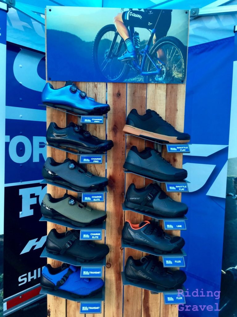 Giant foot wear display at Sea Otter