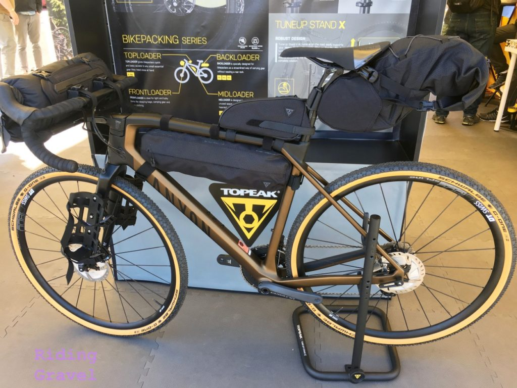 Topeak bike packing gear on a bike