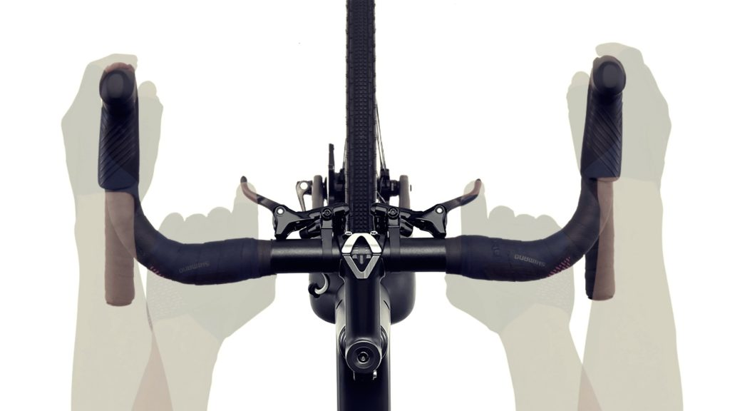 Diagram showing the new GRX secondary brake levers