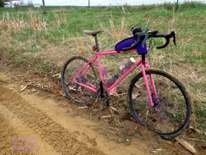 The mud road with the Black Mountain Cycles MCD mounted with Tioga Binary tires.
