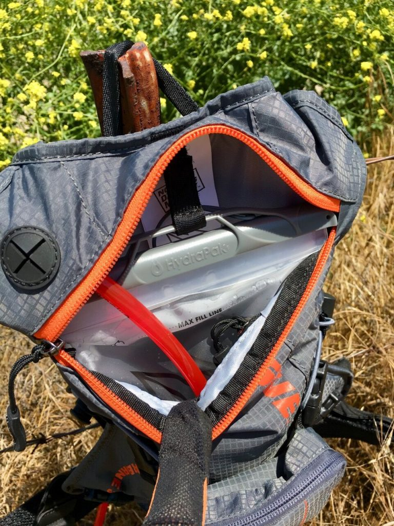A look at the hydration bladder inside the pack