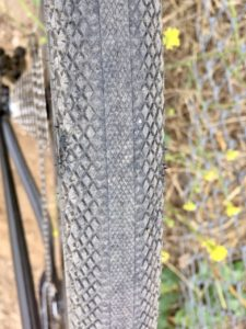detail shot of the Overide tread