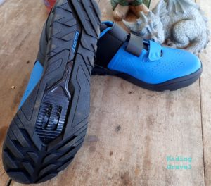 A look at the sole of a Giant Bicycles Line model shoe.