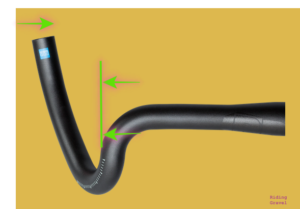 Image demonstrating the swept extension of the Discover Big Flare Bar