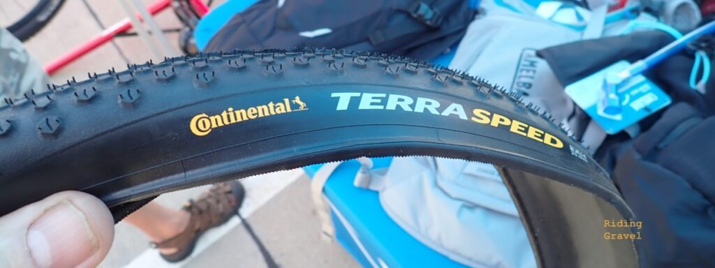 A Continental Tires TerraSpeed tire