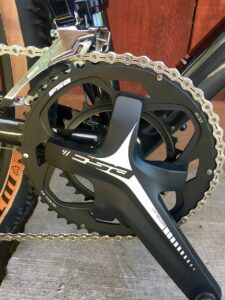Detail on the FSA subcompact crank set