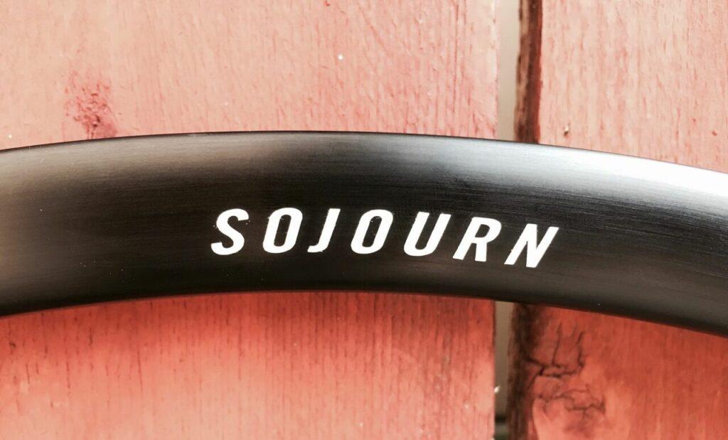 Detail of Sojourn branding