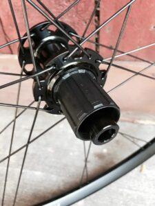 Detail of Rolf Prima Sojourn rear hub