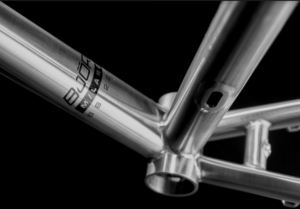 Detail of a Bjorn Bikes frame