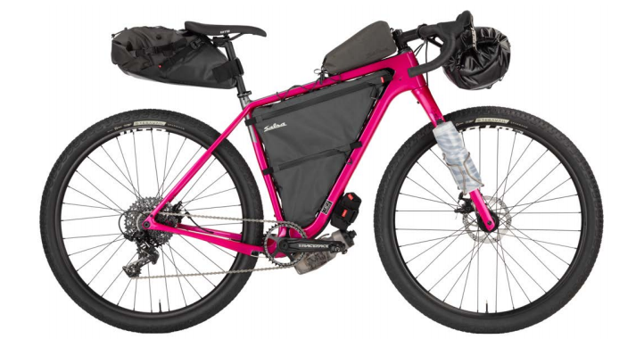 2020 model Cutthroat loaded with bike-packing gear