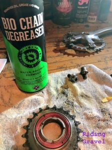 Shot of Bio-Chain Degreaser in use.