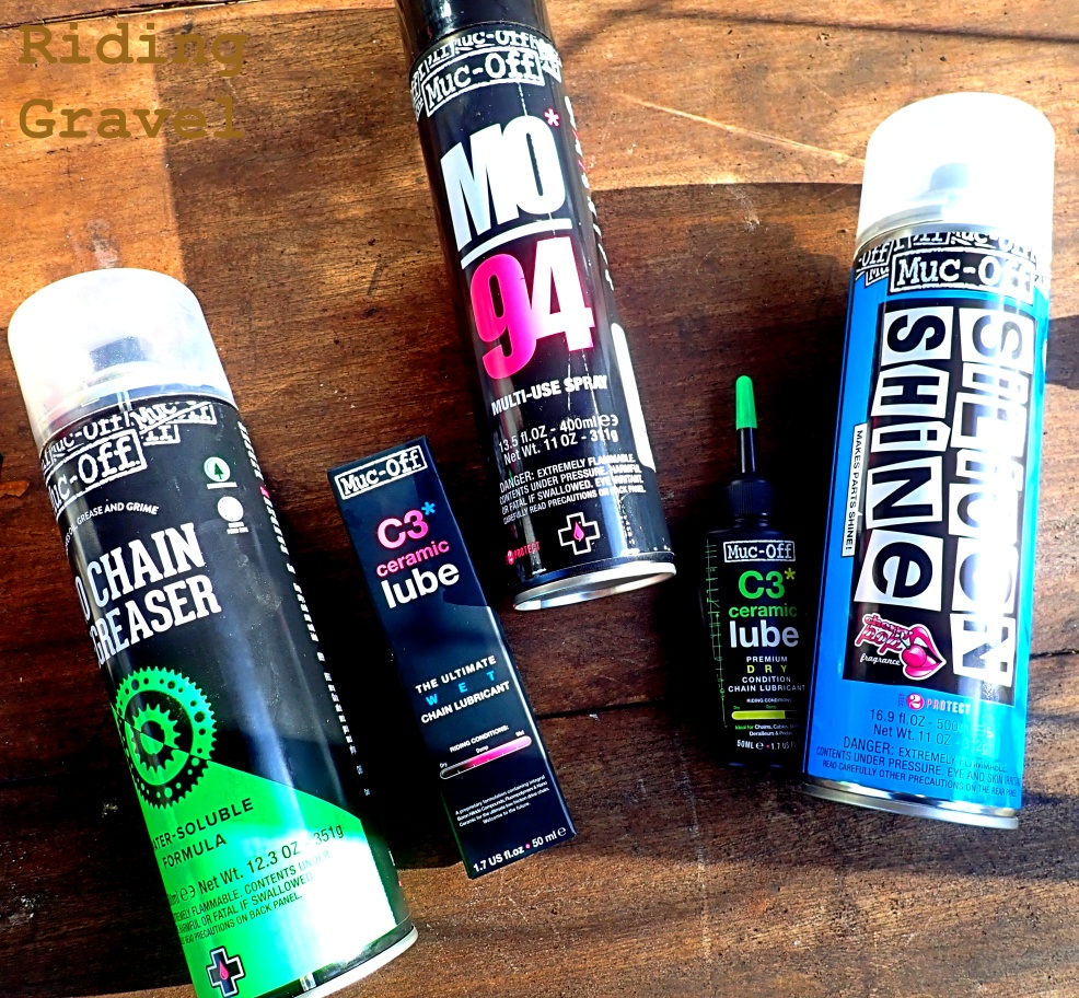 Selection of various Muc-Off products