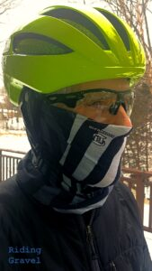 The author with a Bontrager WaveCell helmet on