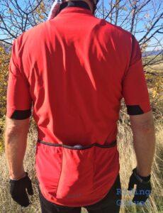 Grannygear modeling the GORE-Tex C5 Infinium jersey