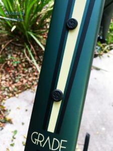 Detail on the frame of the GT Grade