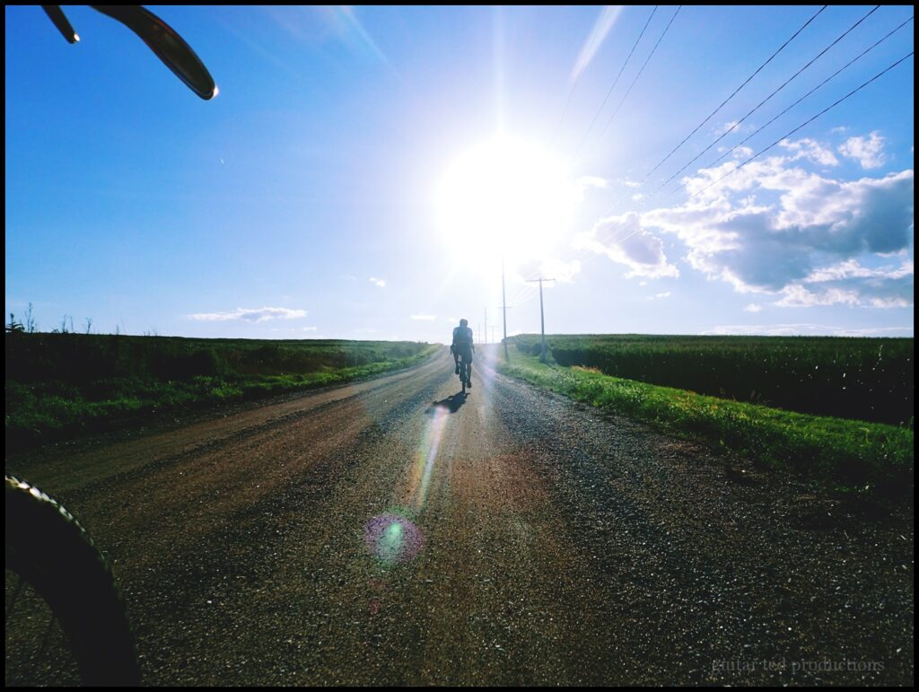 Sunburst with rider in a rural area