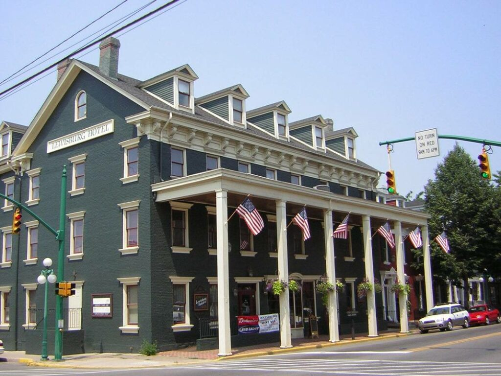 Hotel Lewisburg in downtown Lewisburg, Pennsylvania